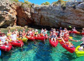 Group-kayak-in-Croatia