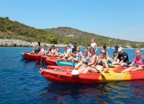 Sea Kayaking Blue Lagoon from Trogir