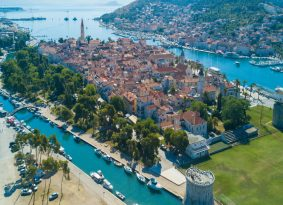 Trogir city from
