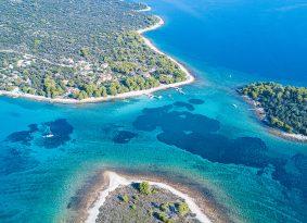 Blue lagoon air view