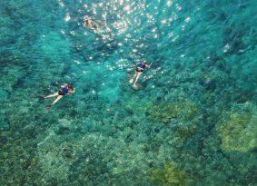 Swiming in Blue Lagoon